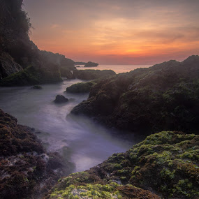 Sunsets over Tegalwangi Beach, Bali  by Aloysius Alphonso - Landscapes Sunsets & Sunrises