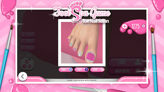 Download foot spa game toe nail salon apk on pc for Salon games free download