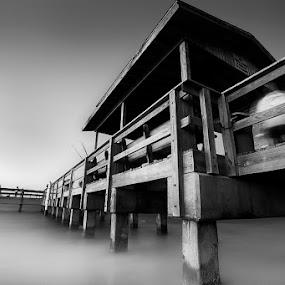 Sanibel Pier by Ruel Tafalla - Landscapes Beaches ( pwcbwlandscapes )