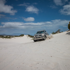 Action with Amarok. by Lanie Badenhorst - Sports & Fitness Motorsports ( #sport, #amarok, #dunes, #action )