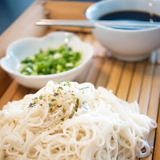 Zaru Somen (Japanese chilled noodles & dipping sauce)