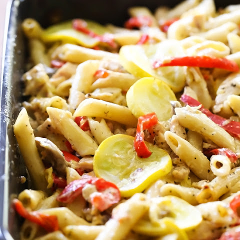 Creamy Italian Penne Pasta with Vegetables