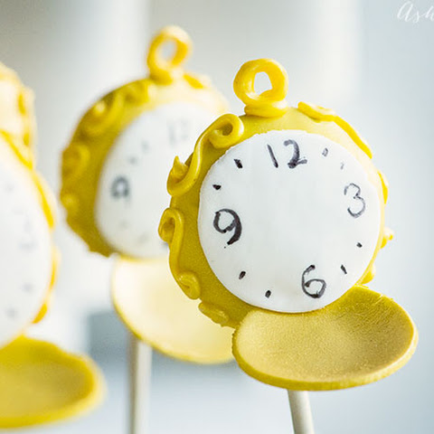 Pocket watch cake pops - Alice through the looking glass