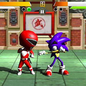 Power Red Rangers Vs Sonic Fighter