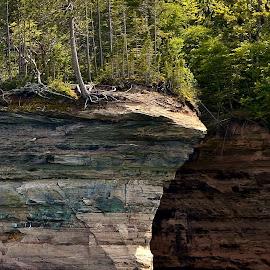 Sandstone Cliffs by Tim Hall - Landscapes Caves & Formations
