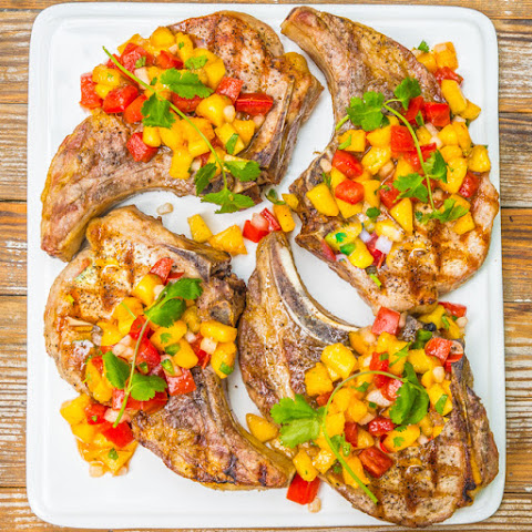 Grilled Pork Chops with Peach Salsa