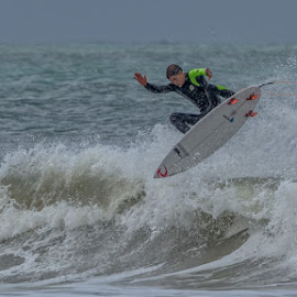 Liam de Villiers trying out his new board - great stuff Liam by Nobby Clarke - Sports & Fitness Other Sports