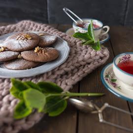 Tea & Biscuits by Justin Saunders - Food & Drink Cooking & Baking ( food, baking, homemade, tea, biscuits )