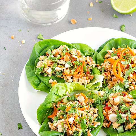 Healthy Asian Chicken Lettuce Wraps