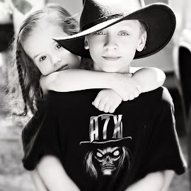 Big Brother piggyback by Jenny Hammer - Babies & Children Children Candids ( love, sister, candid, brother, siblings )