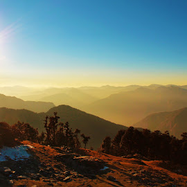 by Aritra Nath - Novices Only Landscapes ( mountain, himalaya, sunset, shiva, landscape )