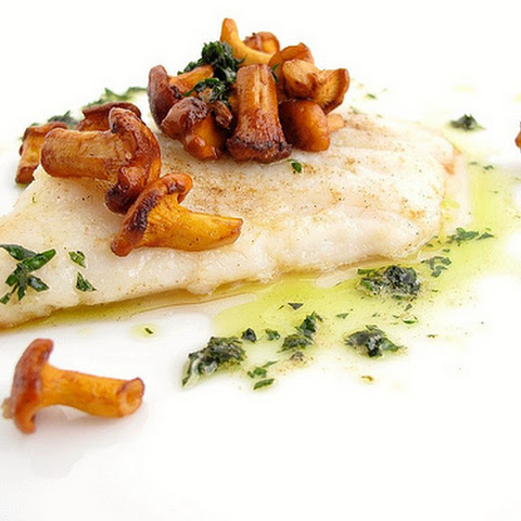 Pan-Seared Sole with Sautéed Chanterelles and Frizzled Parsley-Butter Sauce