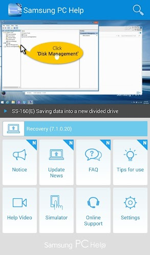 Samsung PC Help Android App Screenshot