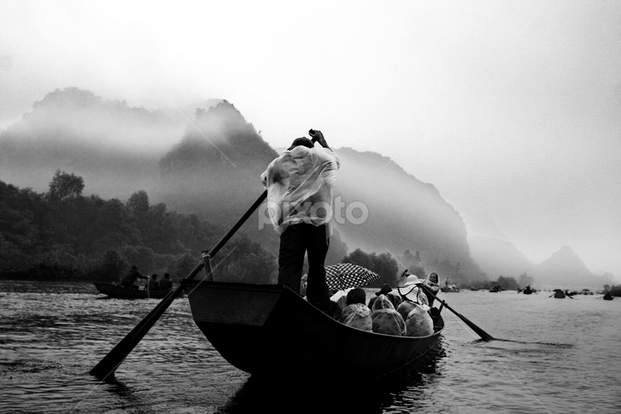 Vietnam - Suoi Yen River by DODY KUSUMA  - Landscapes Travel ( stock, indonesia, bw, pwcbwlandscapes, human )
