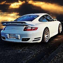 turbo by JEFFREY LORBER - Transportation Automobiles ( caffeine and octane, lorberphoto, porsche, rust 'n chrome, white car, turbo, jeffrey lorber,  )
