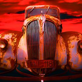 Red car by Adrian Urbanek - Transportation Automobiles