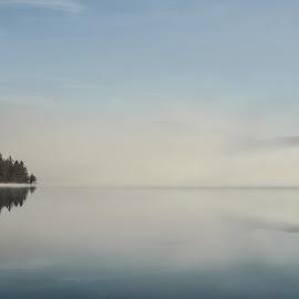 Meglice nad jezerom by Bojan Kolman - Nature Up Close Water (  )