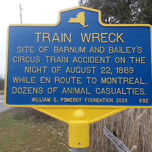 Train Wreck Site of Barnum and Bailey'scircus train accident on thenight of August 22 1889while on route to Montreal.Dozens of animal casualties.William C. Pomeroy Foundation 2020Photo and ...