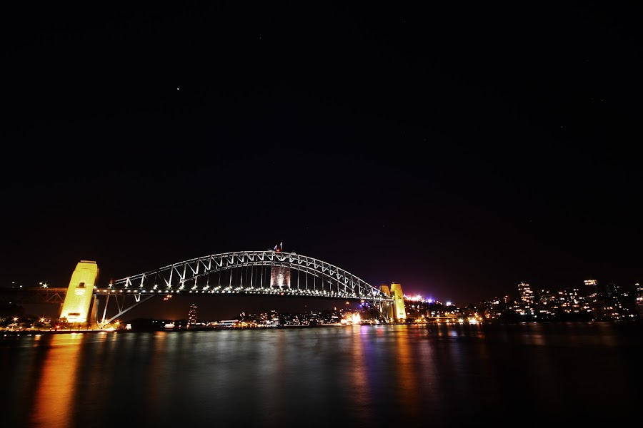 Night at Harbour Bridge by Khairul Azfar - Buildings & Architecture Bridges & Suspended Structures