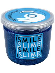 Слайм-лизун Ярко-синие блески, 150 мл.