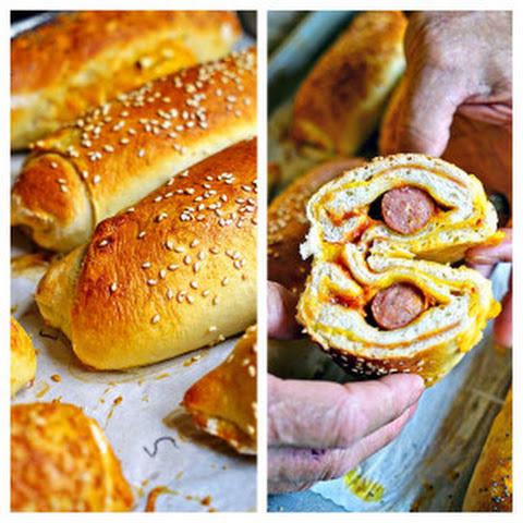 Sourdough Hot Dog Wraps