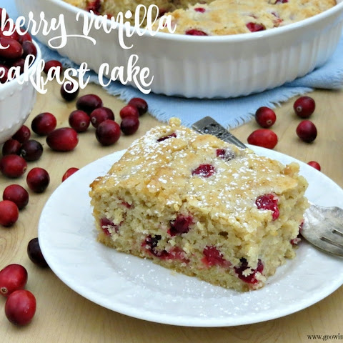 Cranberry Vanilla Breakfast Cake