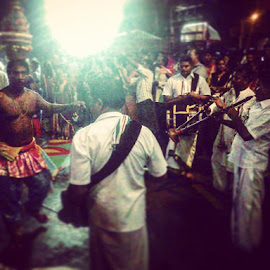 #ThaipusamStreetPhotography Karagattam 💃I watched him since I'm 10 years old, Now I'm 22 and he's showcasing this sacred tradition 🤗#KhantzPhotography by Khanthan Nair - City,  Street & Park  Street Scenes