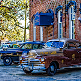 old police cars by Lennie Locken - Transportation Automobiles