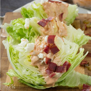 Homemade Sriracha Thousand Island Dressing Wedge Salad