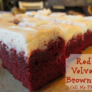 Outrageous Red Velvet Brownies