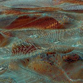 Hex Grid Meadows by Rick Eskridge - Illustration Sci Fi & Fantasy ( fantasy, mb3d, fractal, illustration, twisted brush )