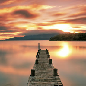 Lake Tarawera Morning by Jomy Jose - Landscapes Sunsets & Sunrises ( hannahsdreamz, jomy jose, lake tarawera, new zealand, rotorua )