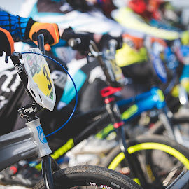 The Race by Simon Talbot-Hurn - Sports & Fitness Cycling ( start line, cycling, bmx, race, bicycle )