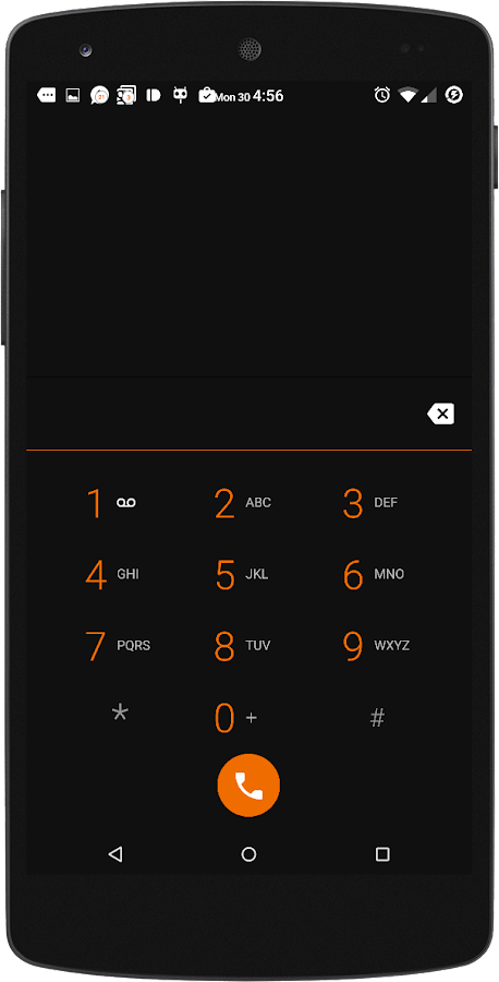 Black MTRL - Dark Orange CM13 Screenshot 4