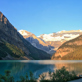 Lake Louise by Margie Troyer - Landscapes Waterscapes