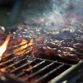 BBQ by Cory Loomis - Food & Drink Cooking & Baking ( chicken, grill, beef, pork, bbq, fire, flame )