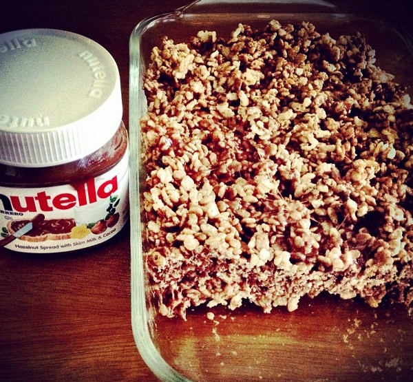 Nutella Rice Krispies Treat Recipe | Yummly