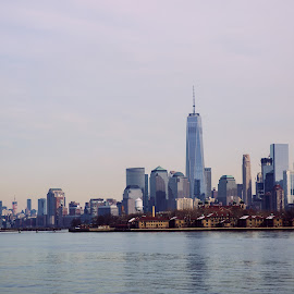 Manhattan view from Liberty State Park by Antonio Oliveros - City,  Street & Park  Skylines ( new york city )