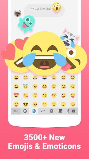 Facemoji Emoji Keyboard-Cute Emoji, Theme, Sticker screenshot 1