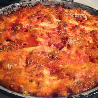 Baked Pasta with Sausage & Whipped Ricotta