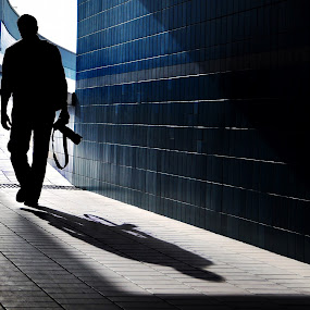 Photographer Silhouette!!!` by Chirag Mer - People Fine Art ( silhouette )