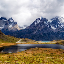 Peaks of Torres del Paine by Vinod Kalathil - Landscapes Mountains & Hills ( clouds, chile, mountain, patagonia, landscape )