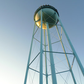 Water tower by Tracy Halman - Buildings & Architecture Other Exteriors ( tower, summer, high, light, water tower,  )