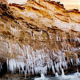 Cave with icicles by Scott Thomas - Landscapes Caves & Formations ( winter, nature, ice, cave, landscape )