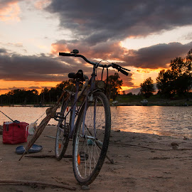 Bicycle by Maja Tomic - Transportation Bicycles ( beach, bicycle )