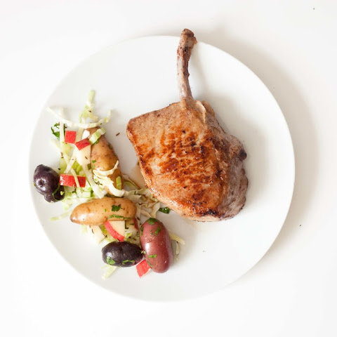 Spring Pork Chop and Caraway Cabbage Salad