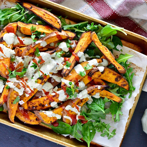 Buffalo Ranch Sweet Potato Fries