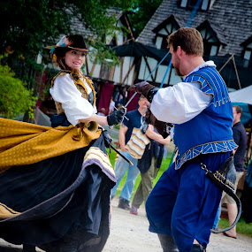 battle the sexes by Brittany Humphrey - People Musicians & Entertainers ( battle, entertainers, entertain, people, entertainment, renaissance fair )