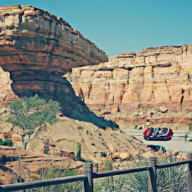Radiator Springs Racers by Randall Ong - City,  Street & Park  Amusement Parks