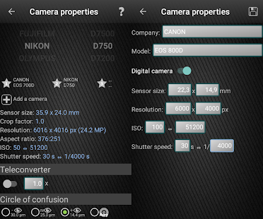 Photographer's companion Pro Screenshot